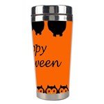 Happy Halloween - owls Stainless Steel Travel Tumblers Right