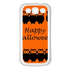 Happy Halloween   Owls Samsung Galaxy S3 Back Case (white)