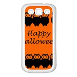 Happy Halloween - owls Samsung Galaxy S3 Back Case (White) Front