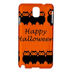 Happy Halloween - owls Samsung Galaxy Note 3 N9005 Hardshell Case