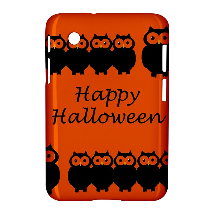 Happy Halloween - owls Samsung Galaxy Tab 2 (7 ) P3100 Hardshell Case