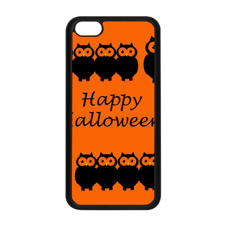Happy Halloween - owls Apple iPhone 5C Seamless Case (Black)