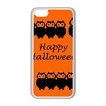 Happy Halloween - owls Apple iPhone 5C Seamless Case (White) Front