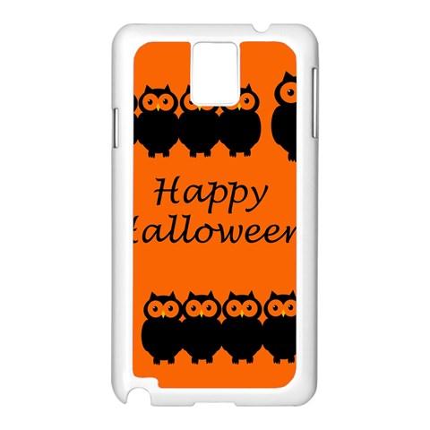 Happy Halloween - owls Samsung Galaxy Note 3 N9005 Case (White)