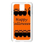 Happy Halloween - owls Samsung Galaxy Note 3 N9005 Case (White) Front