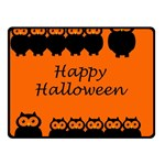 Happy Halloween - owls Double Sided Fleece Blanket (Small)  50 x40 Blanket Back