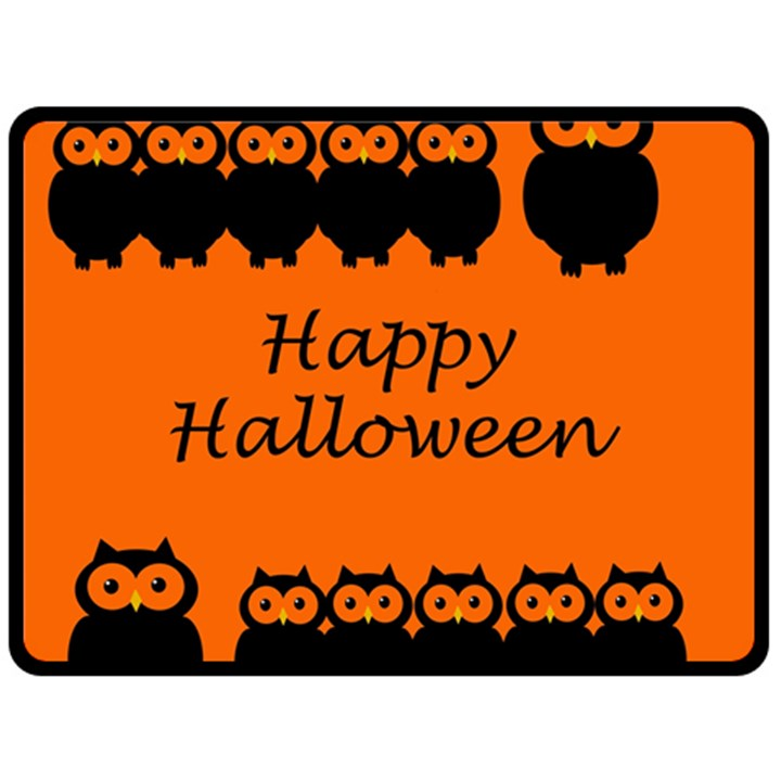 Happy Halloween - owls Double Sided Fleece Blanket (Large)