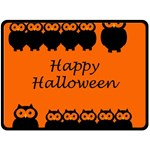 Happy Halloween - owls Double Sided Fleece Blanket (Large)  80 x60 Blanket Back