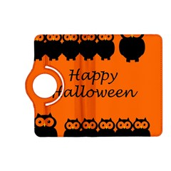 Happy Halloween   Owls Kindle Fire Hd (2013) Flip 360 Case