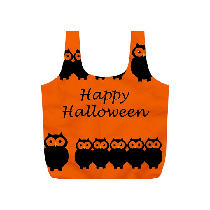 Happy Halloween - owls Full Print Recycle Bags (S)