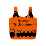 Happy Halloween - owls Full Print Recycle Bags (S)  Back