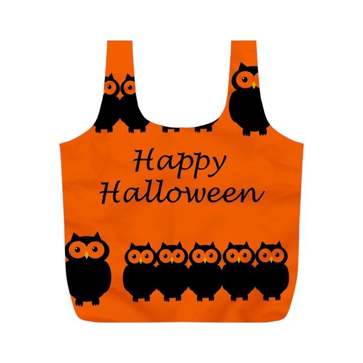 Happy Halloween - owls Full Print Recycle Bags (M)