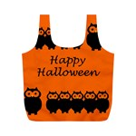 Happy Halloween - owls Full Print Recycle Bags (M)  Back
