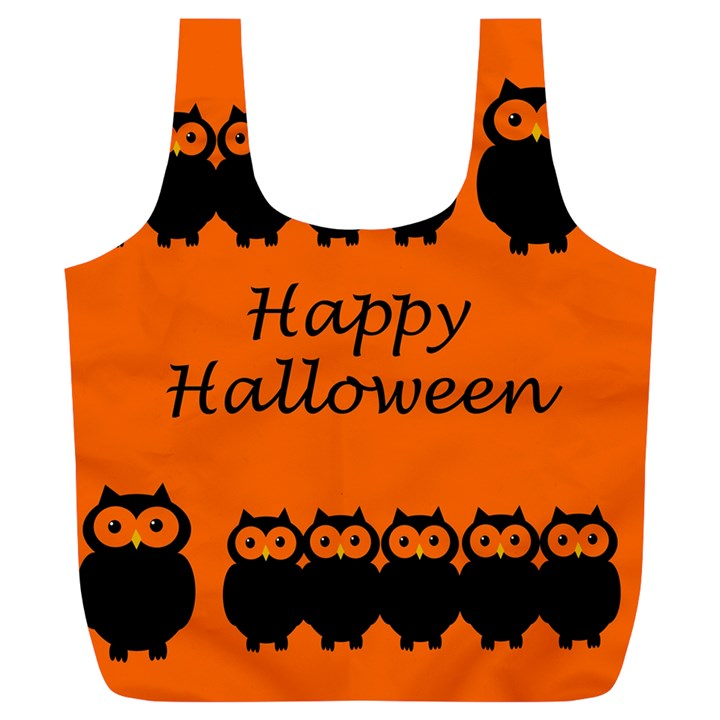Happy Halloween - owls Full Print Recycle Bags (L)