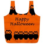 Happy Halloween - owls Full Print Recycle Bags (L)  Back