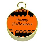 Happy Halloween - owls Gold Compasses Front