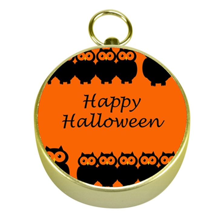 Happy Halloween - owls Gold Compasses