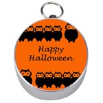 Happy Halloween - owls Silver Compasses Front