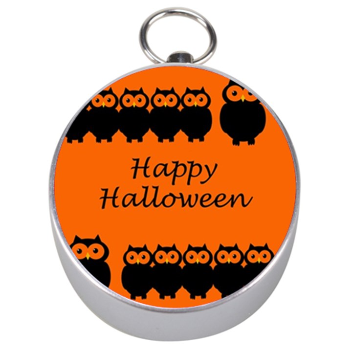 Happy Halloween - owls Silver Compasses