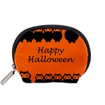 Happy Halloween - owls Accessory Pouches (Small)  Front