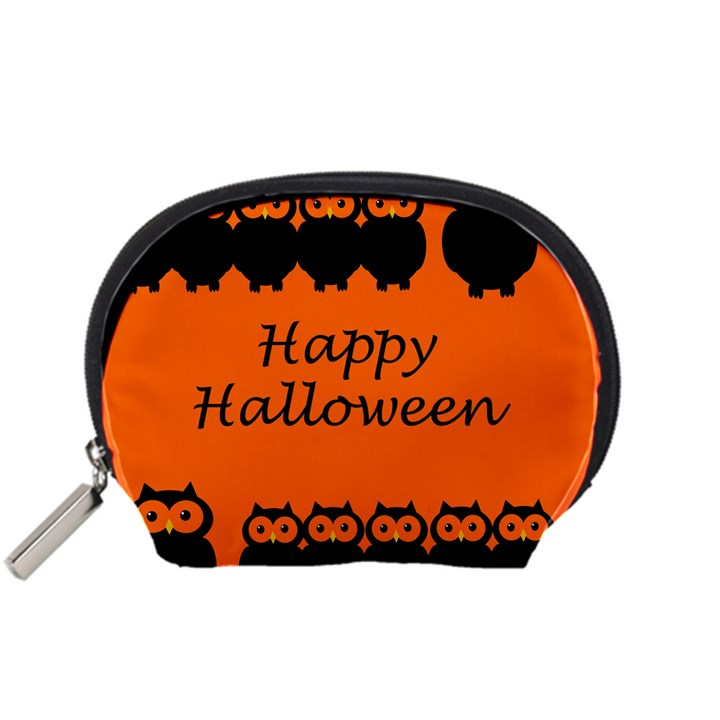 Happy Halloween - owls Accessory Pouches (Small)
