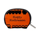 Happy Halloween - owls Accessory Pouches (Small)  Back