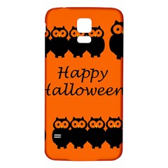 Happy Halloween   Owls Samsung Galaxy S5 Back Case (white)