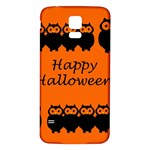 Happy Halloween - owls Samsung Galaxy S5 Back Case (White) Front