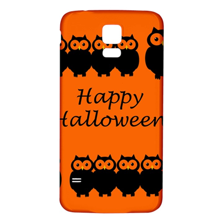 Happy Halloween - owls Samsung Galaxy S5 Back Case (White)