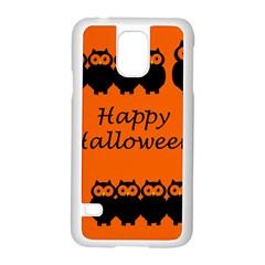 Happy Halloween - owls Samsung Galaxy S5 Case (White)
