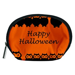 Happy Halloween - owls Accessory Pouches (Medium)