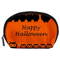 Happy Halloween   Owls Accessory Pouches (large)