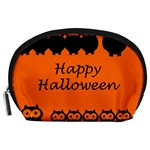 Happy Halloween - owls Accessory Pouches (Large)  Front