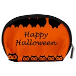 Happy Halloween - owls Accessory Pouches (Large)  Back