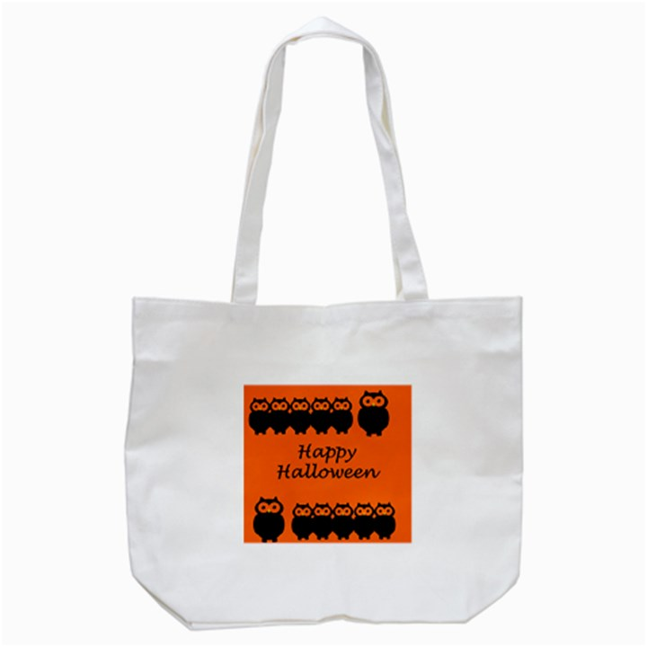 Happy Halloween - owls Tote Bag (White)