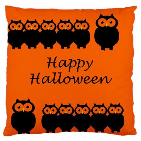 Happy Halloween - owls Large Flano Cushion Case (One Side)