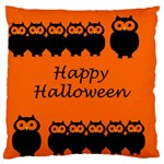Happy Halloween - owls Large Flano Cushion Case (Two Sides) Back