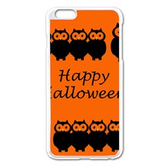 Happy Halloween   Owls Apple Iphone 6 Plus/6s Plus Enamel White Case