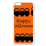 Happy Halloween - owls Apple iPhone 6 Plus/6S Plus Enamel White Case Front