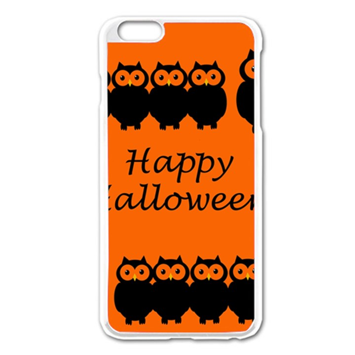 Happy Halloween - owls Apple iPhone 6 Plus/6S Plus Enamel White Case