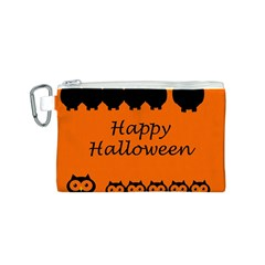 Happy Halloween - owls Canvas Cosmetic Bag (S)