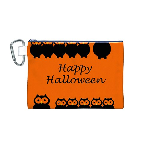 Happy Halloween - owls Canvas Cosmetic Bag (M)