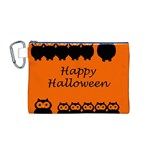 Happy Halloween - owls Canvas Cosmetic Bag (M) Front
