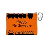 Happy Halloween - owls Canvas Cosmetic Bag (M) Back