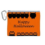Happy Halloween - owls Canvas Cosmetic Bag (L) Front