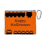 Happy Halloween - owls Canvas Cosmetic Bag (L) Back