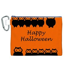 Happy Halloween - owls Canvas Cosmetic Bag (XL)