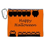 Happy Halloween - owls Canvas Cosmetic Bag (XXL) Front