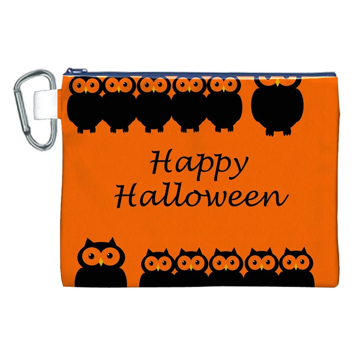 Happy Halloween - owls Canvas Cosmetic Bag (XXL)
