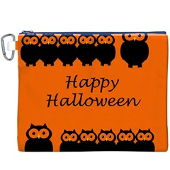 Happy Halloween   Owls Canvas Cosmetic Bag (xxxl)